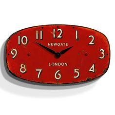 Newgate Shop Clock - Antique Red