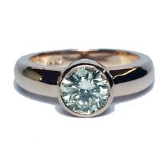 1.03ct Round Brilliant Cut Diamond In Bezel Setting