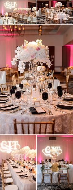 A Columbus Ohio Affair by The Finer Things Event Planning | Open Image Studio | Pink Black Gold White
