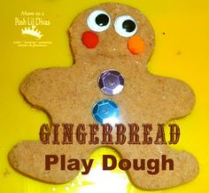 Mom to 2 Posh Lil Divas: Preschool Fun: Gingerbread Play Dough