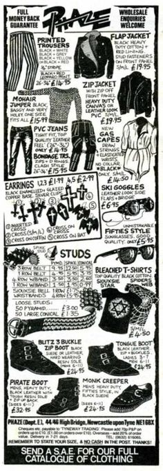 nowthisisgothic:    Phaze advertisement in the NME, 1985 [taken from: tintrunk]