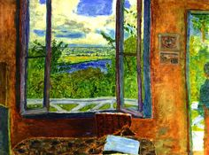 Pierre Bonnard Open Window toward the Seine (Vernon) oil on canvas, 78 x cm, Musée des Beaux-Arts de Nice, Nice, France. The Athenaeum. Pierre Bonnard, Impressionist Paintings, Impressionism Art, Claude Monet, Vernon, Anime Comics, Open Window, Window Panes, Paul Gauguin