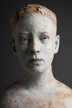 Robin Power - Beautiful piece, I don't think he needs the tears, his facial expression says it all, would have been more compelling without them.