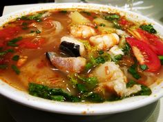 Vietnamese Sour Soup with Pineapple   A refreshing soup made with fresh pineapple, preferably half-ripe and tart.