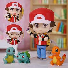 Find More Action Toy Figures Information About New 1 Set Nendoroid 425 Pokemon Ash Ketchum Balbazor Zenigame Charmander Squirtle Bulbasaur Figure