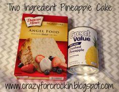 Two Ingredient Pineapple Cake
