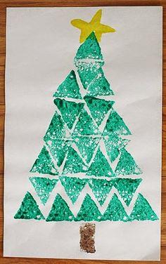 http://buggyandbuddy.com/christmas-crafts-kids-shape-christmas-tree-sponge-painting/