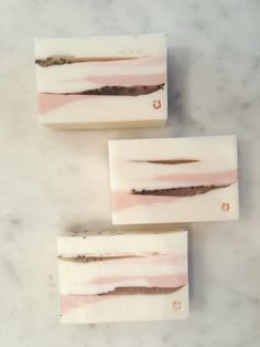 """""""pink serenity"""" handmade goat's milk, organic glycerin, rose clay and cranberry seed soap"""
