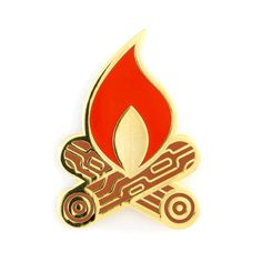 """Perfect for smores - Gold pin with colored enamel - Rubber backing - Measures 1"""" tall"""