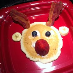 Rudolph pancakes! Our new Christmas brunch tradition.