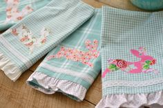 Ruffled Towel: A Cute & Fun DIY featuring Elea Lutz' Strawberry Biscuit fabric collection #ilovepennyrose #fabricismyfun