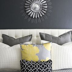 Grey And Yellow Bedrooms Design Ideas, Pictures, Remodel, and Decor - page 5