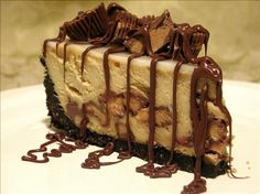 Ruggles Reese's Peanut Butter Cup Cheesecake - This was a best selling dessert for Ruggles Grill, in Houston. It's a little different than some peanut butter cheesecakes--very good---with that winning combo, chocolate and peanut butter!