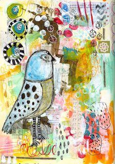 Roben-Marie - Art Journal Love - Blue Bird...