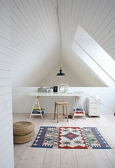 white wooden room