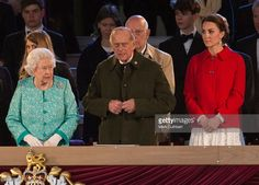Queen Elizabeth II And Prince Philip Duke Of Edinburgh With Catherine Duchess Cambridge At The Queens Birthday Celebration Royal Windsor Horse