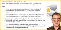 """Der Klartext-Experte und Journalist Thilo Baum gibt im Interview einen kleinen Vorgeschmack auf das Online-Seminar """"Ihre PR-Botschaften auf den Punkt gebracht"""" am 6. Mai: http://pr.pr-gateway.de/pr-botschaften-auf-den-punkt-bringen.html #PR"""
