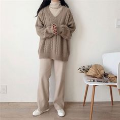 Mode Outfits, Korean Outfits, Fall Outfits, Casual Outfits, Fashion Outfits, Vest Outfits, Womens Fashion, Fashion Tips, Korean Street Fashion