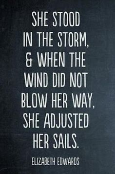 strength. The storm is getting calmer