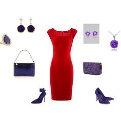 A fashion look from July 2013 featuring red dresses, leather sole shoes and purple pumps. Browse and shop related looks. Deep Winter Colors, Dark Winter, Purple Pumps, Seasonal Color Analysis, Dramatic Classic, Deep Autumn, Cool Tones, Colourful Outfits, Season Colors