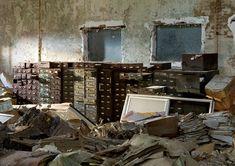 Hart Island record room debris