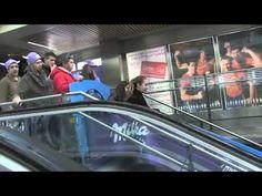 Milka installe un toboggan dans le métro de Madrid pour faire découvrir une nouvelle recette