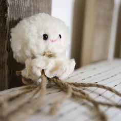 Fluffy Octopus Cat Toy / Catnip Optional // Fur, Sea Creature, Sweet Creature, Animal, Pet Gift, Cat Gift