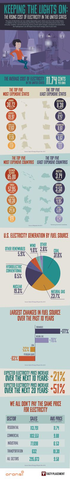 The Rising Cost Of The Electricity #Infographic #Electricity #power