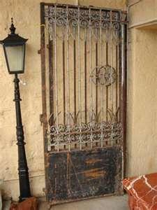 antique iron fencing