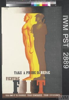 Abram Games, Take a Pride in Being Fighting FIT - poster, Second World War (content)