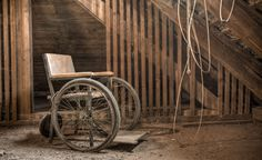 Abandoned home, abandoned wheelchair | photography by Christian Richter #creepy #beautiful