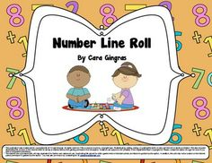 Number Line Roll - Addition Game - CC - asks for kiddos to be fluent in addition facts up to 5 in many ways. This is lesson/game is focused on using a number line to teach this standard. It focuses on numbers 0-12. $