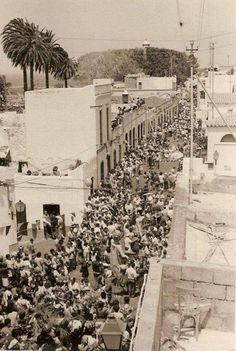 Fiesta de La Rama en Agaete 1970