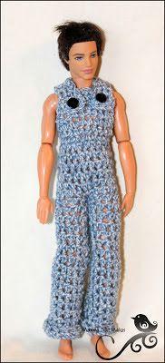 Mamma That Makes: Barbie Month .20 Ken's Overalls  *** 22 Barbie en Ken hekelpatrone ***