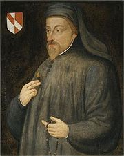 Geoffrey Chaucer ( c. 1343 – 25 October 1400) was an English author, poet, philosopher, bureaucrat, courtier and diplomat. Although he wrote many works, he is best remembered for his unfinished frame narrative The Canterbury Tales. Sometimes called the father of English literature, Chaucer is credited by some scholars as the first author to demonstrate the artistic legitimacy of the vernacular English language, rather than French or Latin.(http://en.wikipedia.org/wiki/Geoffrey_Chaucer)