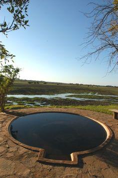 Natural hot tub at Kafunta River Lodge