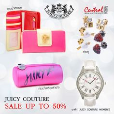 Juicy Couture SAVE up to 50% อินเทรนด์สุดๆ กับ Accessories สุดชิค ช้อปทางออนไลน์ที่ http://www.central.co.th/th/products.php?bybrand=y==13960=JUICY%20COUTURE