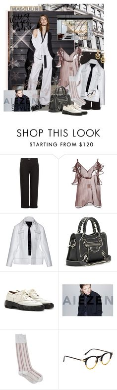 """MASCULINE BECOMES FEMININE"" by mariapia65 ❤ liked on Polyvore featuring Balenciaga, Nili Lotan, Marni, E L L E R Y, masculine, winter2015 and Christmas2015"
