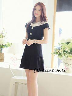 rose button bow dress $45