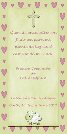 Tarjeta de Primera Comunión y Bautismo 8 cm x 13 cm                                                                                                                                                      Más First Communion Favors, First Communion Invitations, First Holy Communion, Boy Baptism, Christening, Anna Lucia, Baptism Cookies, Ideas Para Fiestas, Message Card