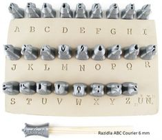 Rélyéf set of Courier alphabet inch Pottery stmaps for clay, easy use for kids and beginners Ceramic Tools, Clay Tools, Ceramic Clay, Ceramic Pottery, Ceramic Texture, Clay Texture, Alphabet Stamps, Alphabet Letters, Pottery Tools