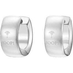 JOOP Klappcreolen Logo Signature Edelstahl JPCO10008A000 Online Shops, Gemstone Rings, Wedding Rings, Engagement Rings, Gemstones, Earrings, Jewelry, Logo, Fashion