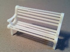 1:24 Park Bench by PrettySmallThings.