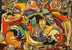 Jackson Pollock -   The Key, 1946 at the Art Institute of Chicago IL Modern Art Wing
