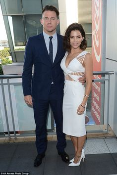 Dance fans: Channing Tatum and his beautiful wife Jenna Dewan turned up for the Dizzy Feet Foundation Gala at LA Live's Club Nokia in downtown Los Angeles on Saturday evening