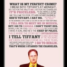 Oh Dwight...