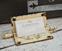 My Salvaged Treasures: Junk Projects - business card holder