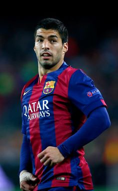 Luis Suarez of Barcelona during the UEFA Champions League Quarter Final second leg match between FC Barcelona and Paris Saint-Germain at Camp Nou on April 21, 2015 in Barcelona, Catalonia.