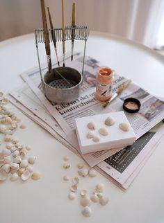 DIY Seashell Memory Game