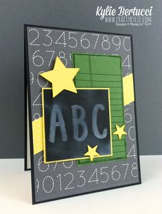 Stampin' Up! Australia: Kylie Bertucci Independent Demonstrator: Back to School card for a teacher or a student Teachers Day Card, Teacher Thank You Cards, Teacher Gifts, Partner Cards, Teacher Appreciation Cards, Kylie, Atc Cards, Graduation Cards, Kids Cards